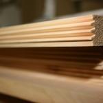 Zirbelholzbrett mit Verbinder